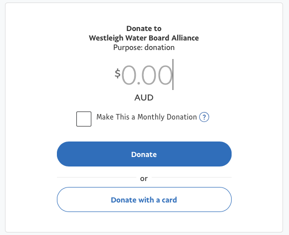 Donate to the Westleigh Waterboard Alliance